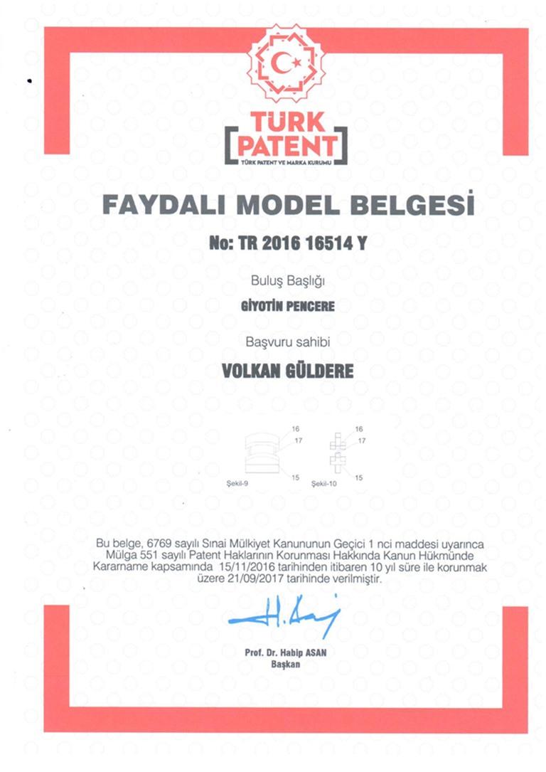 Doruk Grup Giyotin Patent